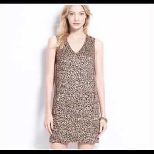Ann Taylor Leopard Print Shift Dress